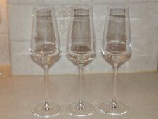 CHEF & SOMMELIER CRYSTAL SET OF 3 CHAMPAGNE FLUTES 9 1/8""