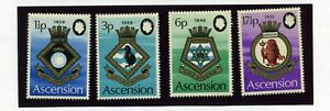 ASCENSION   MNH   156-59a   Royal Navy Crests    ZB383