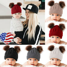 Newborn Kids Baby Boy Girl Pom Hat Soft Warm Crochet Knit Bobble Beanie Cap USA