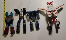 Vintage 80's Transformers Figure Lot 4 figures RARE toys