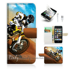 ( For iPhone 5 / 5S / SE ) Wallet Case Cover! Motocycle Bike P0043
