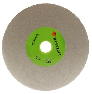 "Grit 320 Diamond coated 6"" inch Flat Lap wheel Lapidary lapping Grinding Disc"