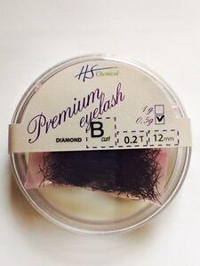 Diamond Silk Loose Lash J B C curl Eyelash Extension + pot & silicone pad