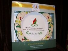 PAULA DEEN AT HOME COLLECTOR'S SERIES SERVING PLATE CARDINAL HOLIDAY KITCHEN