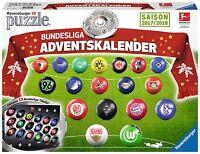 Ravensburger Adventskalender 11695 - Bundesliga 2017 / 2018 im 3D-Puzzle Ball