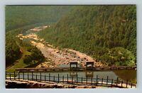 Ansted WV, Power Dam, Hawk's Nest State Park, Chrome West Virginia Postcard