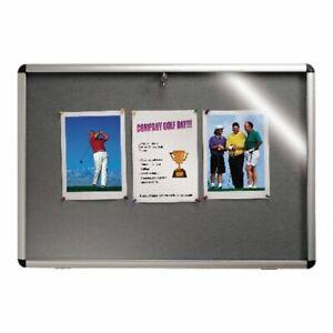 Nobo Internal Display Case A1 Grey Felt 745x1025mm Includes fixing kit Free P&P!