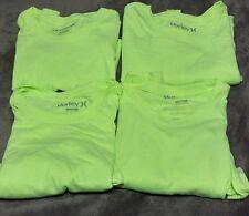 Hurley Neon Yellow Premium I Short Sleeve Shirt  Large. ( LOT 4 PCS)