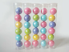 15 Pack Clear Plastic Tubes with Plugs - Candy/Favor Container for Parties
