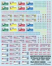 Colorado Decals 1/18 24 HOURS OF LE MANS PLATES 2003-2006