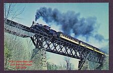 Lmh Postcard Green Mountain Railroad 2-6-0 Gmrc 89 Trestle Canadian National '65