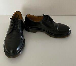 Dr Martens Black Leather 1461 Shoes Unisex Size UK6 VGC (S2#3)