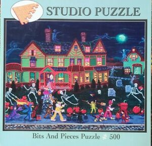 Halloween Jigsaw Puzzle by Bits and Pieces 500pc Trick or Treaters Skeletons
