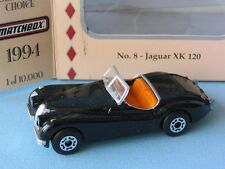 Matchbox Collectors Choice Jaguar XK120 Black Body English Sports Car Toy Model