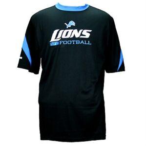 Reebok NFL Mens Detroit Lions Sideline Lift Performance Playdry Shirt, Black, SM