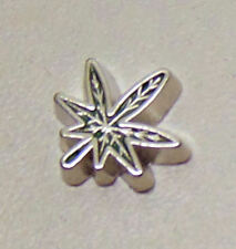 charm for living glass floating locket, marijuana leaf charm weed