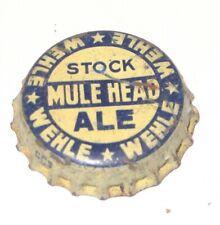 WEHLE Mules Head ALE BEER BOTTLE CAP CROWN - WEHLE Brewing - WEST HAVEN CONN. CT