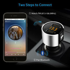 Bluetooth FM Transmitter USB Car Charger Wireless Car Kit for iPhone 7 Plus 6S 6