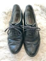 Born Women's Black Leather Lace Up Pumps Size 7