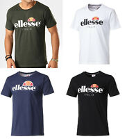 Ellesse Mens Round Neck Short Sleeve Cotton T shirt Top Tee S M L XL 2XL 3XL