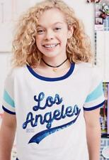 JUSTICE for GIRLS ~ New! NWT Size 18 ~ LOS ANGELES Sequin Cropped Graphic Tee