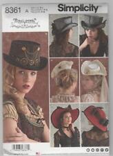 Simplicity Sewing Pattern 8361 Arkivestry Steampunk Tricorne Wide Brim Top Hat