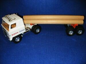 "Vntg 1970s ERTL Logging Truck 18 Wheel Semi Truck/Trailer 21"" w/4 Logs SuperNice"