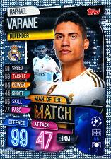Match Attax Champions League 19/20, Varane (Real Madrid, Man of the Match)