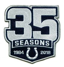 🏈2018 INDIANAPOLIS COLTS 35 Seasons Commemorative Iron-on Football Jersey  PATCH 38eb721ad56
