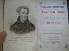 P. Abraham's a Sancta Clara, Auserlesene Werke 1846