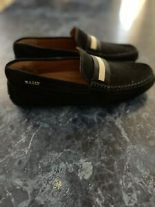 BALLY Pearce Suede Driver Loafers Navy US 5.5 Men (Orig. price $395)