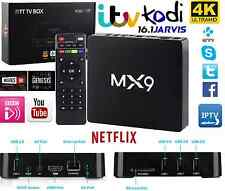 MX9 4K Android TV Box IPTV KODI WiFi Plus TVBOX HDMI SMART TV STREAMING online