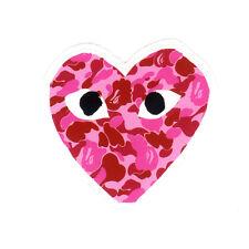 comme des garcons A Bathing Ape Pink Camo bape glossy decal vinyl sticker #1308