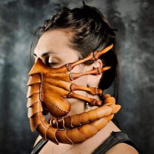 Magic Halloween Horror Rubber Scary Half Face Face Hugger Scorpion Mask 2020