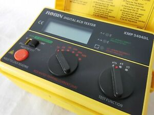 ROBIN KMP 5404 Digital RCD (ELCB) Tester - 18 Test Ranges