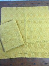 Euc Set of 2 Pine Cone Hill Geo Matelasse Euro Pillow Sham Yellow Gold Mustard