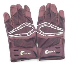 Cutters Adult Rev Pro Football Receiver Gloves Size Small Maroon White New