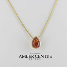 Italian Made Classic Elegant Amber Pendant in 9ct Gold- GP0045  RRP£125!!!
