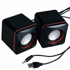 3.5mm Mini USB Wired Computer Speakers Stereo Bass For PC Laptop Desktop US
