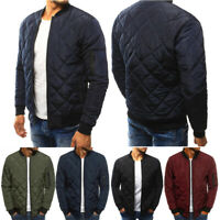 Fashion Men's Ultralight Jacket Puffer Bubble Down Coat Bomber Padded Parka 2019
