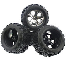 Traxxas 1/10 Nitro Stampede Pro .15 2WD * FRONT & REAR TIRES & CHROME WHEELS *