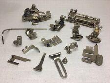 (F) Vintage Greist Sewing Machine Rotary Attachments Hemmers Binder