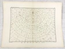 1893 Antique Star Map Chart Lacerta Andromeda Perseus Constellations Astronomy