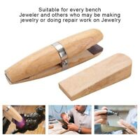 Natural Wooden Jewelers Ring Clamp Wood Jewelry Making Vise Tool Jewelry Holder