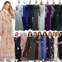 Muslim Dress Women Dubai Abaya Islamic Kaftan Long Maxi Jilbab Arab Robe Gown