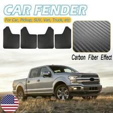 4x Rally Effect Mud Flaps Mudflaps Mudguard Splash Guards Universal Carbon Fiber