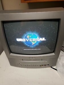 Toshiba MD13N3R 13 Inch CRT TV Television DVD Combo Model Retro Gaming No Remote