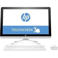 AIO PC HP 24-g085na QUAD CORE AMD A8-7410 8GB 1TB Full HD 23.8 Touchscreen White