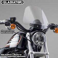 Harley XL883R Sportster Roadster Gladiator Windshield | Light Tint/Black