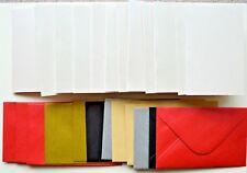 10 blanc perle unitaire pli cartes vierges & assorties couleur env 100mm x 60mm